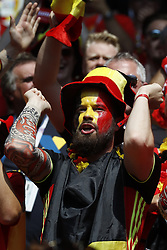 Belgium's Fans during the 2018 FIFA World Cup Russia game, Belgium in vs Tunisia in Spartak Stadium, Moscow, Russia on June 23, 2018. Belgium won 5-2. Photo by Henri Szwarc/ABACAPRESS.COM