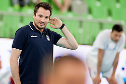 Luka Slabe, head coach of Slovenia before volleyball match between National teams of Slovenia and Poland in 4th Qualification game of CEV European Championship 2015 on May 23, 2014 in Arena Stozice, Ljubljana, Slovenia. Photo by Urban Urbanc / Sportida