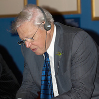Broadcaster Sir David Attenborough looks around the Queen's Gallery at the Palace of Holyroodhouse, Edinburgh prior to the opening of the Amazing Rare Things exhibition on March 2, 2007. The Ecxhibition will be in London later on this year<br /> <br /> WORDLWIDE DISTRIBUTION EXCLUSIVE TO REX