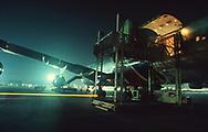 Gulf War One:  Military supplies arriving at daharan air base   <br /><br />Photograph byy Dennis Brack. bb78