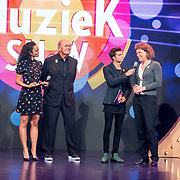 NLD/Almere/20170918 - Presentatie Lang Leve de Muziek Show, Buddy Vedder en Romy Monteiro met Joop van den Ende en Carolien Gehrels