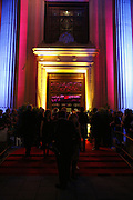 Freemasons Hall entrance, Opening of Spamalot at the Night Palace Theatre and afterwards at Freemasons Hall Gt. Queen St.  London. 17 October 2006. -DO NOT ARCHIVE-© Copyright Photograph by Dafydd Jones 66 Stockwell Park Rd. London SW9 0DA Tel 020 7733 0108 www.dafjones.com