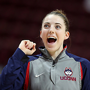 Katie Lou Samuelson, UConn, during warm up before the UConn Huskies Vs USF Bulls 2016 American Athletic Conference Championships Final. Mohegan Sun Arena, Uncasville, Connecticut, USA. 7th March 2016. Photo Tim Clayton