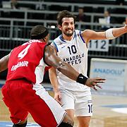 Anadolu Efes's Kerem Tunceri during their Turkish Basketball League match Anadolu Efes between Erdemir at Arena in Istanbul, Turkey, Wednesday, January 28, 2012. Photo by TURKPIX