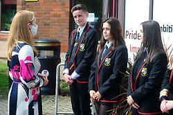Lochgelly High School Exam results<br /> <br /> Shirley-Anne Somerville chats with Lochgelly High Students<br /> <br /> (c) David Wardle | Edinburgh Elite media