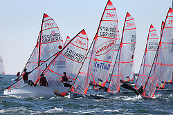 Image Credit Marc Turner.29er action .Day 3 RYA Youth National Championships 2013 held at Largs Sailing Club, Scotland from the 31st March - 5th April. .Sailors Launching..For Further Information Contact..Matt Carter.Racing Communications Officer.Royal Yachting Association.M: 07769 505203.E: matt.carter@rya.org.uk ..Image Credit Marc Turner / RYA.