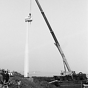 Windmolens Huizen weggehaald en onderweg naar Friesland