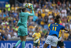 June 12, 2019 - Montpellier, França - MONTPELLIER, PL - 12.06.2019: BRAZIL VS AUSTRALIA - Lydia Williams of Australia during a match between Australia and Brazil, valid for the 2019 FIFA Women&# World Cup,Cup, held on Thursday, June 13, 2019, at the Mosson Sum in Montpellier, France. (Credit Image: © Richard Callis/Fotoarena via ZUMA Press)