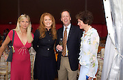 Duchess of York and guests Veuve Clicquot gold Cup, Polo at Cowdray, 18 July 2004. SUPPLIED FOR ONE-TIME USE ONLY> DO NOT ARCHIVE. © Copyright Photograph by Dafydd Jones 66 Stockwell Park Rd. London SW9 0DA Tel 020 7733 0108 www.dafjones.com
