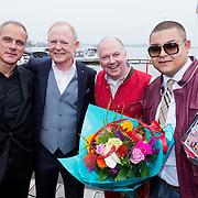 NLD/Loosdrecht/20130925 - CD presentatie Ronnie Tober, Frank, Ronnie Tober en partner Jan Jochems en Brownie Dutch