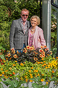 Chris Evans and Mary Berry in his Taste Garden - The Chelsea Flower Show organised by the Royal Horticultural Society with M&G as its MAIN sponsor for the final year.
