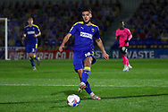 AFC Wimbledon defender Nesta Guinness-Walker (18) passing the ball during the EFL Sky Bet League 1 match between AFC Wimbledon and Peterborough United at Plough Lane, London, United Kingdom on 2 December 2020.