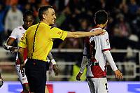 Referee Santiago Jaime Latre during 2014-15 La Liga match between Rayo Vallecano and Malaga CF at Rayo Vallecano stadium in Madrid, Spain. March 21, 2015. (ALTERPHOTOS/Luis Fernandez)