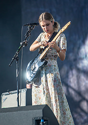 Wolf Alice's Ellie Rowsell on the main stage, Saturday 30th June at TRNSMT 2018.