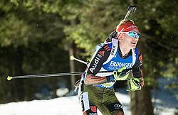 Benedikt Doll (GER)  during Men 15 km Mass Start at day 4 of IBU Biathlon World Cup 2015/16 Pokljuka, on December 20, 2015 in Rudno polje, Pokljuka, Slovenia. Photo by Vid Ponikvar / Sportida