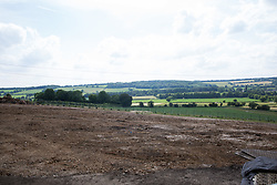 Wendover, UK. 16th June, 2021. An area of ancient woodland at Jones Hill Wood in Buckinghamshire cleared of trees and vegetation for the HS2 high-speed rail link is pictured from within an area that will remain. Jones Hill Wood qualifies as lowland mixed deciduous woodland, a habitat of principal importance, and contains resting places and/or breeding sites for pipistrelle, barbastelle, noctule, brown long-eared and natterer's bats.