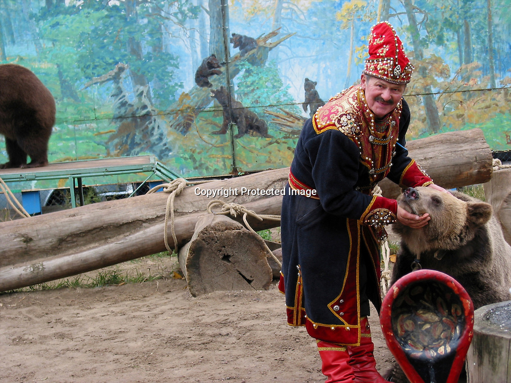 bear trainer in moscow