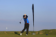 Joe Lyons (Galway) on the 1st tee during Round 4 of The West of Ireland Open Championship in Co. Sligo Golf Club, Rosses Point, Sligo on Sunday 7th April 2019.<br /> Picture:  Thos Caffrey / www.golffile.ie