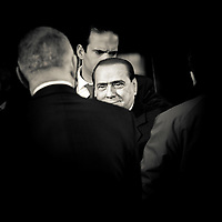 Brussels, Belgium 16 December 2010<br /> Italian Prime Minister Silvio Berlusconi arrives at the European Union leaders summit in Brussels.<br /> Photo: Ezequiel Scagnetti