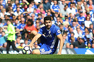 Chelsea forward Diego Costa (19) during the Premier League match between Chelsea and Sunderland at Stamford Bridge, London, England on 21 May 2017. Photo by John Potts.