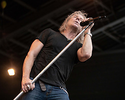 July 1, 2018 - Milwaukee, Wisconsin, U.S - Vocalist ROBERT MASON of Lynch Mob performs live at Henry Maier Festival Park during Summerfest in Milwaukee, Wisconsin (Credit Image: © Daniel DeSlover via ZUMA Wire)