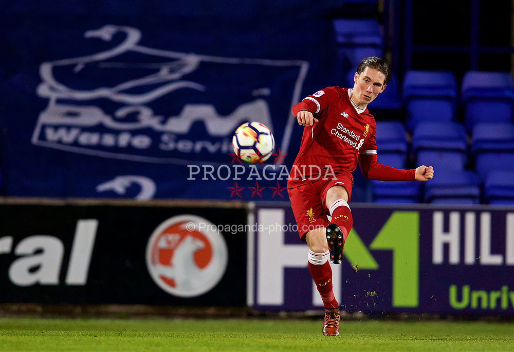BIRKENHEAD, ENGLAND - Saturday, November 18, 2017: Liverpool's Harry Wilson during the Under-23 FA Premier League 2 Division 1 match between Liverpool and Everton at Prenton Park. (Pic by David Rawcliffe/Propaganda)