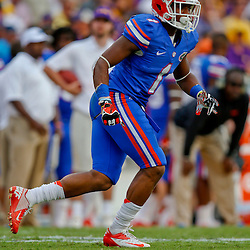 Oct 12, 2013; Baton Rouge, LA, USA; Florida Gators defensive back Vernon Hargreaves III (1) against the LSU Tigers during the second half of a game at Tiger Stadium. LSU defeated Florida 17-6. Mandatory Credit: Derick E. Hingle-USA TODAY Sports
