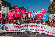 The start, lked by Sadiq Khan and young people - The People's Vote March For The Future demanding a Vote on any Brexit deal. The protest assembled on Park Lane and then marched to Parliament Square for speeches.