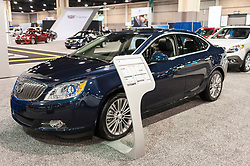 CHARLOTTE, NC, USA - November 11, 2015: Buick Verano on display during the 2015 Charlotte International Auto Show at the Charlotte Convention Center in downtown Charlotte.