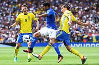 Eder Italy, Albin Ekdal Sweden <br /> Toulouse 17-06-2016 Stade de Toulouse <br /> Football Euro2016 Italy - Sweden / Italia - Svezia Group Stage Group E<br /> Foto Massimo Insabato / Insidefoto