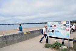Tourist information sign, Marazion, Cornwall, UK