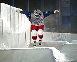 03-02-2012 SKATING: RED BULL CRASHED ICE WORLD CHAMPIONSHIP: VALKENBURG<br /> Rintje Ritsma NED<br /> ©2012-FotoHoogendoorn.nl/Peter Schalk