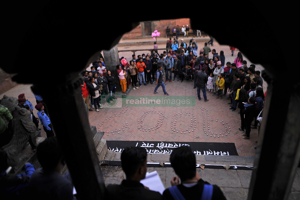 November 2, 2018 - Kathmandu, NP, Nepal - Nepalese people participate in a candle light vigil on the memory of Nirmala Panta in 100th day at the premises of Krishna Mandir, Patan, Nepal on Friday, November 02, 2018. Over hundreds of people gathered at the candle light vigil. (Credit Image: © Narayan Maharjan/NurPhoto via ZUMA Press)