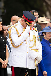 The Duke of Sussex attends the opening of the Anzac Memorial in Hyde Park, Sydney, on the fifth day of the royal couple's visit to Australia.