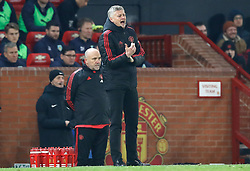 """Manchester United interim manager Ole Gunnar Solskjaer gestures on the touchline during the Premier League match at Old Trafford, Manchester. PRESS ASSOCIATION Photo. Picture date: Tuesday January 29, 2019. See PA story SOCCER Man Utd. Photo credit should read: Martin Rickett/PA Wire. RESTRICTIONS: EDITORIAL USE ONLY No use with unauthorised audio, video, data, fixture lists, club/league logos or """"live"""" services. Online in-match use limited to 120 images, no video emulation. No use in betting, games or single club/league/player publications"""