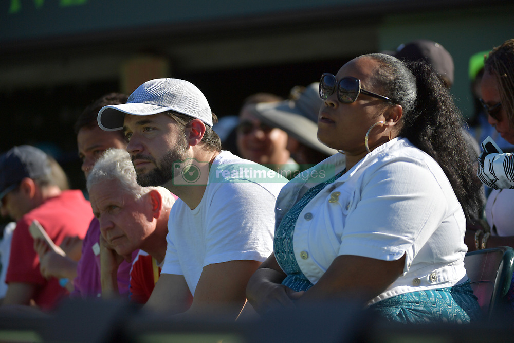 March 21, 2018 - Key Biscayne, Florida, United States Of America - KEY BISCAYNE, FL - MARCH 21: Naomi Osaka of Japan defeats Serena Williams of the United States during the Miami Open Presented by Itau at Crandon Park Tennis Center on March 21, 2018 in Key Biscayne, Florida. ...People:  Alexis Ohanian. (Credit Image: © SMG via ZUMA Wire)