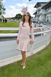 ELIZABETH HURLEY at the Investec Derby 2015 at Epsom Racecourse, Epsom, Surrey on 6th June 2015.