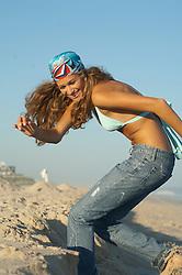 Teenage Girl On The Beach in East Hampton, NY