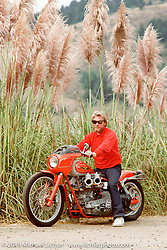 Arlen Ness on Orange Blossom Harley-Davidson Knucklehead north of San Francisco, Photograph ©Michael Lichter 1987