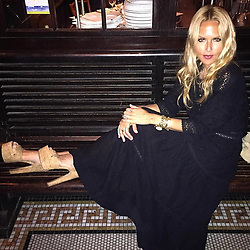 """Rachel Zoe releases a photo on Instagram with the following caption: """"Impromptu post dinner \ud83d\udcf8 for @brian_atwood last night #strikeaposeanywhere #bff\u2764\ufe0f XoRZ"""". Photo Credit: Instagram *** No USA Distribution *** For Editorial Use Only *** Not to be Published in Books or Photo Books ***  Please note: Fees charged by the agency are for the agency's services only, and do not, nor are they intended to, convey to the user any ownership of Copyright or License in the material. The agency does not claim any ownership including but not limited to Copyright or License in the attached material. By publishing this material you expressly agree to indemnify and to hold the agency and its directors, shareholders and employees harmless from any loss, claims, damages, demands, expenses (including legal fees), or any causes of action or allegation against the agency arising out of or connected in any way with publication of the material."""