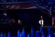 The Olympic Torch during the Opening Ceremony of the Tokyo 2020 Olympic Games. Tuesday 27th July 2021. Mandatory credit: © John Cowpland / www.photosport.nz