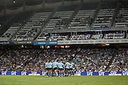 Waratahs team talk. Super 14 Rugby Union, Waratahs v Lions, Sydney Football Stadium, Australia. Friday 12 March 2010. Photo: Clay Cross/PHOTOSPORT