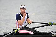 Hazewinkel, BELGIUM,  Women's Single Sculls Semi Final Anna WATKINS [BEBINGTON]. during the British Rowing Senior Trails, Bloso Rowing Centre. Sunday  11/04/2010.  [Mandatory Credit. Peter Spurrier/Intersport Images]