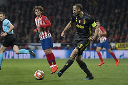 February 21, 2019 - Madrid, Madrid, Spain - Giorgio Chiellini of Juventus  during UEFA Champions League round of 16 soccer match between Atletico Madrid and Juventus at Wanda Metropolitano Stadium in Madrid, Spain on February 20, 2019 Photo: Oscar Gonzalez/NurPhoto  (Credit Image: © Oscar Gonzalez/NurPhoto via ZUMA Press)