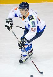 Janus Pavlic of Triglav at SLOHOKEJ league ice hockey match between HK Slavija and HK Triglav Kranj, on February 3, 2010 in Arena Zalog, Ljubljana, Slovenia. Triglaw won 4:1. (Photo by Vid Ponikvar / Sportida)