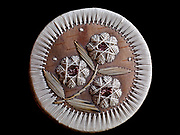 Ojibwa or Anishnabe birchbark and sweetgrass quill box with floral design, Jennifer Whipple Collection.
