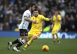 Jacob Butterfield of Derby County (L) and Jake Forster-Caskey of Milton Keynes Dons in action - Mandatory byline: Jack Phillips/JMP - 13/02/2016 - FOOTBALL - The iPro Stadium - Derby, England - Derby County v Milton Keynes Dons - Sky Bet Championship