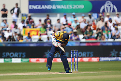 June 28, 2019 - Chester Le Street, County Durham, United Kingdom - Sri Lanka's Jeevan Mendis of Sri Lanka ducks out of a bouncer from Kagiso Rabada during the ICC Cricket World Cup 2019 match between Sri Lanka and South Africa at Emirates Riverside, Chester le Street on Friday 28th June 2019. (Credit Image: © Mi News/NurPhoto via ZUMA Press)