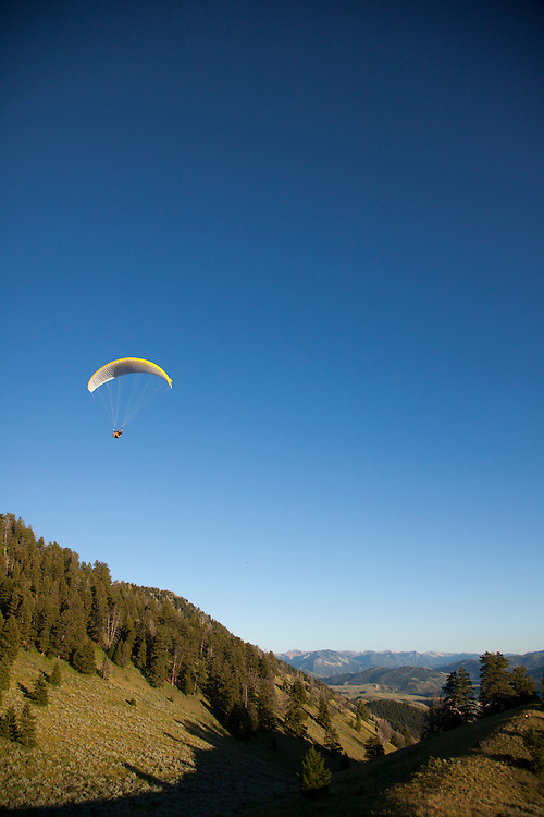 Paragliding in Jackson, WY.