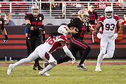San Francisco 49ers quarterback Blaine Gabbert (2) carries the ball against the Arizona Cardinals at Levi's Stadium in Santa Clara, Calif., on October 6, 2016. (Stan Olszewski/Special to S.F. Examiner)
